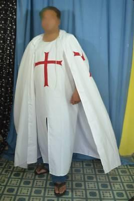 Medieval Crusader LARP Costume Templar Knights Cloak & Tabbard set