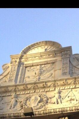 3 Story Terra Cotta Building Facade Front Cherubs Dolphins 35 Feet Tall 4
