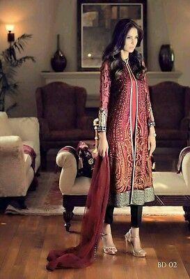 Pakistani Designers Maria B Shalwar Kameez 4pcs Suit Readymade Stitched--Size=M 2