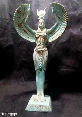 RARE ANCIENT EGYPTIAN ANTIQUE Isis Standing  Statue Stone( 1460-1350 BC) 5