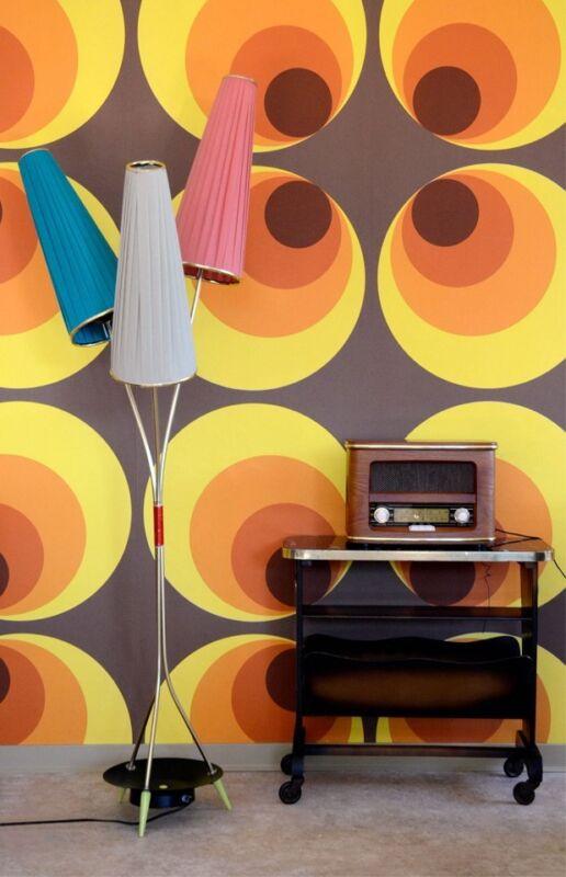 50er 60er Jahre Tütenlampe seltene Stehlampe Tütenleuchte  70er  Rockabilly
