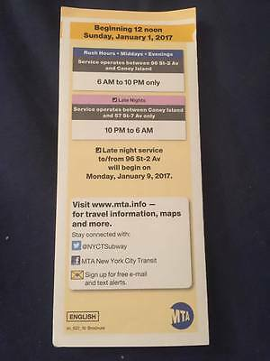 SECOND AVENUE SUBWAY Map Brochure Opening Day 2nd Ave MTA ...