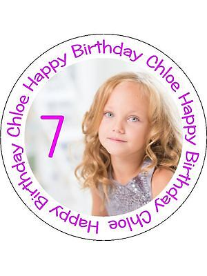 30 Pre-Cut Edible Wafer Cup Cake Toppers Personalised Picture Photo Text Image 2