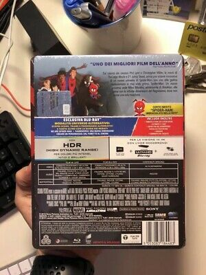 Spiderman Homecoming + Spiderman Un Nuovo Universo Steelbook Blu Ray 4K 2