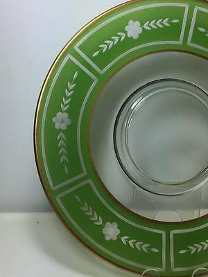 Westmoreland Glass etched cheese and cracker plate 5
