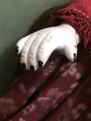 artist signed creepy bisque doll 5