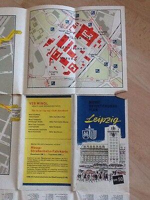 Leipzig Messeorientierungsplan Stand 01.01.1964 Herausgeber: Leipziger Messeamt