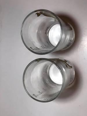Pair of Dominion Glass 4 ounce Giraffe Dose Glasses 4