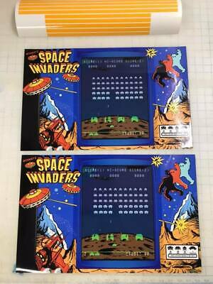 Arcade1up Cabinet Riser Graphics - Space Invaders Graphic Sticker Decal Set 9