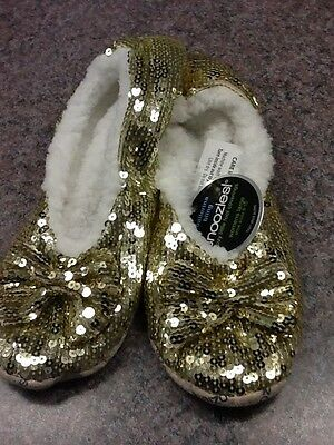 SNOOZIES Women's SLIPPERS BALLERINA BLING 6 ASST Colors 4