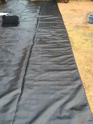 Membrane Ground Sheet Cover 100Gsm Hd Terram Woven Permeable Fabric Weed Control