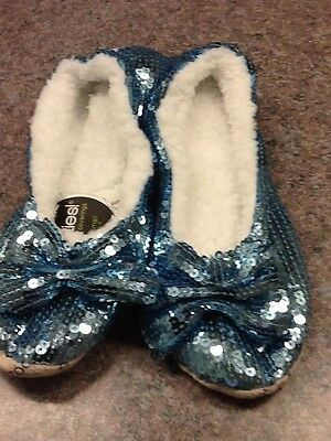 SNOOZIES Women's SLIPPERS BALLERINA BLING 6 ASST Colors 2