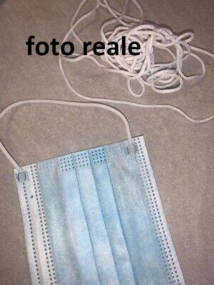elastico tubolare rotondo cordina elastica 20 metri  bianco 2,5/ mm 2