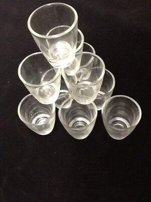 10 Shot Glasses Glass 1 oz Barware Shots Whiskey Tequila Aguardiente Diez Vodka 2
