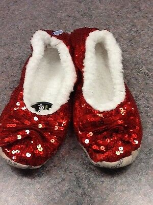 SNOOZIES Women's SLIPPERS BALLERINA BLING 6 ASST Colors 7
