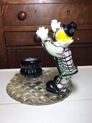 Vintage Murano Art Glass Clown Lamp Base 3