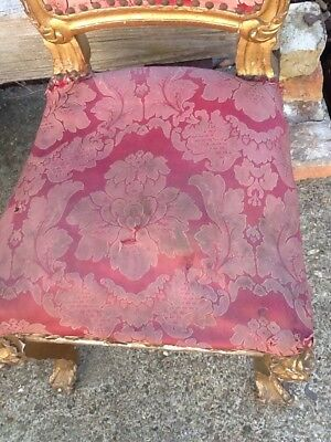 Antique Pair Of French Louis Dining Chairs Faded Elegance Original Need Work. 9