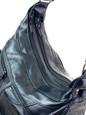 Real Leather Handbag Cross Body Long Shoulder Strap Women Black Travel Work 10