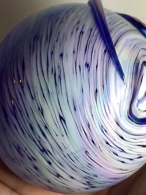 Cobalt blue iridescent art glass atomizer 6