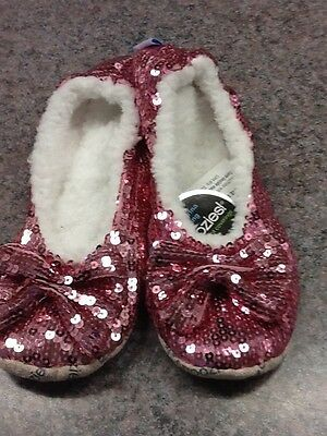SNOOZIES Women's SLIPPERS BALLERINA BLING 6 ASST Colors 3