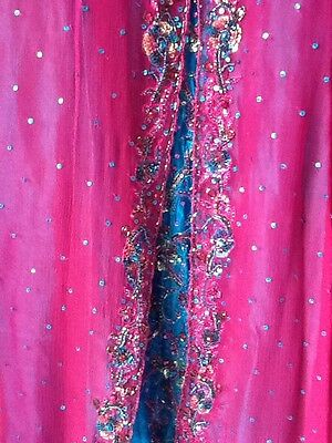 Brand New Indian Pakistani Stunning Turquoise & Pink Lengha Outfit Bollywood 7