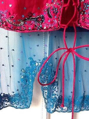 Brand New Indian Pakistani Stunning Turquoise & Pink Lengha Outfit Bollywood 12