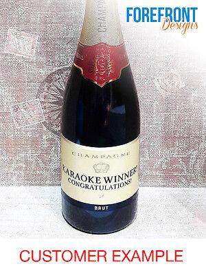 Perfect Birthday//Wedding//Graduation Gift Personalised Champagne bottle label