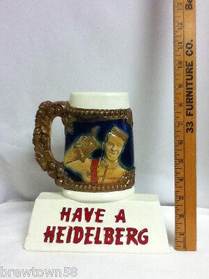Heidelberg beer sign stein mug bar chalkware statue chalk display Columbia CN4 2