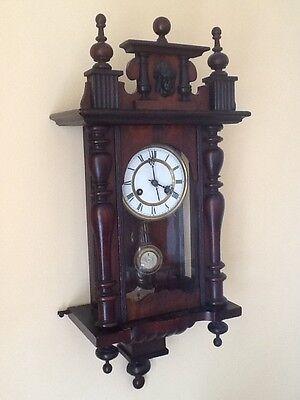 Antique German Pfeilkreuz Wall clock with R=A Pendulum c.1900 8