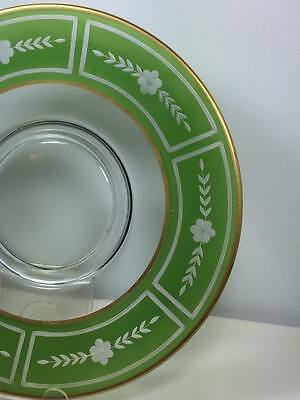 Westmoreland Glass etched cheese and cracker plate 4