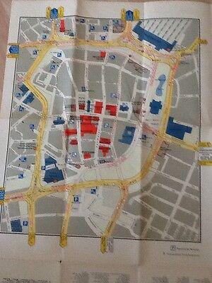 Leipzig Messeorientierungsplan Stand 01.01.1966 Herausgeber: Leipziger Messeamt