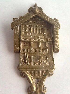 Vintage Brass Gods Providence House - Chester Door Knocker 4