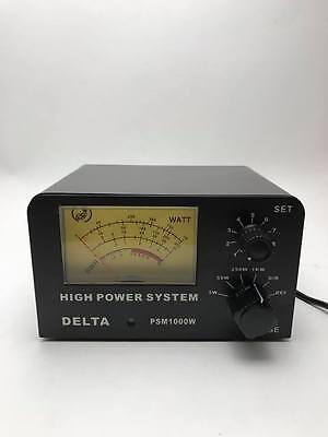 DELTA PSM1000W 1000 WATT SWR & POWER METER CB HAM RADIO ANTENNA METER 26-30 MHz