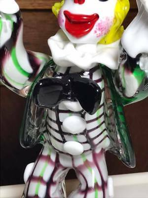 Vintage Murano Art Glass Clown Lamp Base 6