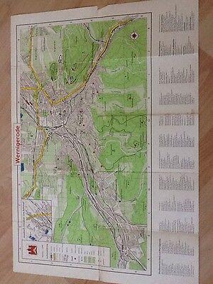 Straßenübersichtsplan Wernigerode - Maßstab 1: 10.000  ca. 1959