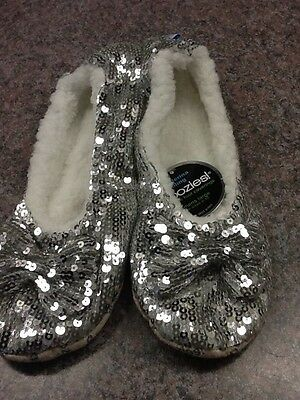 SNOOZIES Women's SLIPPERS BALLERINA BLING 6 ASST Colors 5