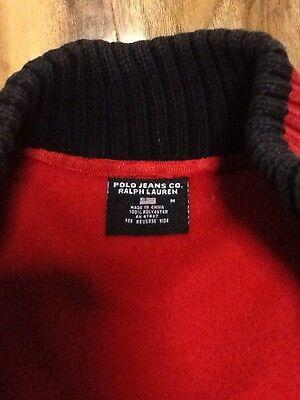 Ralph Lauren Polo Jeans Co. Fleece Cardigan Boys Size M 6