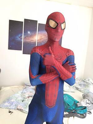 1 of 6 Kids/Adult Marvel The Amazing Spiderman Spandex Zentai Suit Cosplay Costume & KIDS/ADULT MARVEL THE Amazing Spiderman Spandex Zentai Suit Cosplay ...