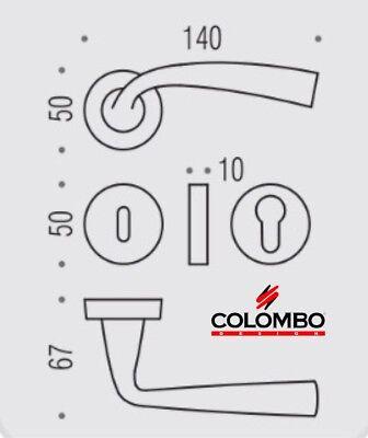 MANIGLIA PER PORTA COLOMBO DESIGN EDO MH11R CROMAT design Makio Hasuike