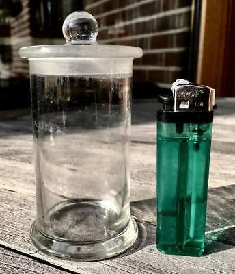 Präparateglas / Gewürzglas mit eingeschliffenem Kugelknopfdeckel - ALT!!!