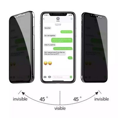 [2-Pack] iPhone X XS XR XS Max Privacy Anti-Spy Tempered Glass Screen Protector 6