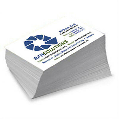 1000 Full Color 2 Side REAL PRINTING Business Cards 16pt UV High Gloss Finish 2