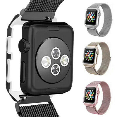 For Apple Watch Series 4 3 2 1 Magnetic Milanese Loop Band 38mm 42mm 40mm 44mm 9