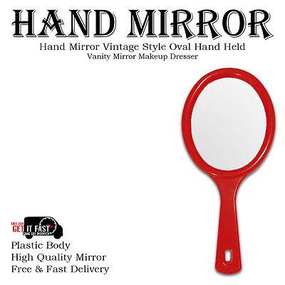 Hand Held Mirror Salon Style Hand Mirror Vanity Mirror Professional Makeup Tool 5