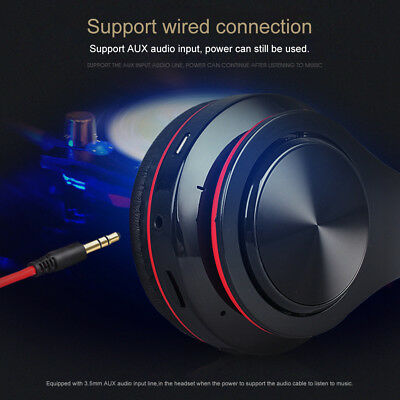 Wireless Bluetooth Headphones Foldable Stereo Earphones Super Bass Headset Mic 9