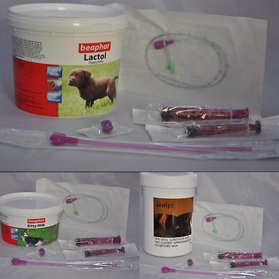 Puppy Kitten Complete Feeding Set Welpi Lactol Milk Bottle Feeding Tube Whelping 3