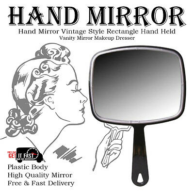 Hand Held Mirror Salon Style Hand Mirror Vanity Mirror Professional Makeup Tool 2