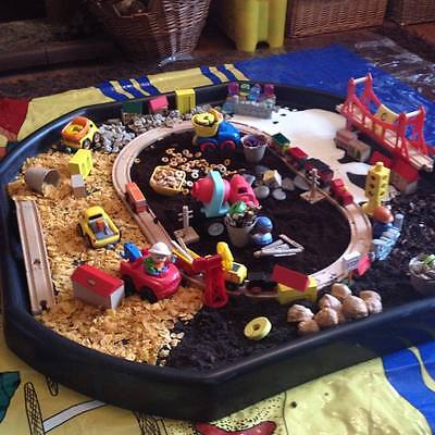 Large Plastic Children Kid Party Play Tuff Spot MIXING TRAY Toy Sand Pit Stand 8