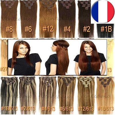 Extensions De Cheveux A Clips 100% Naturels Remy Hair 49/53/60Cm Aux Choix