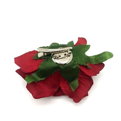 Women's Cloth ROSES Hair Clip Flowers Corsage Brooch Style FREE UK DELIVERY 2